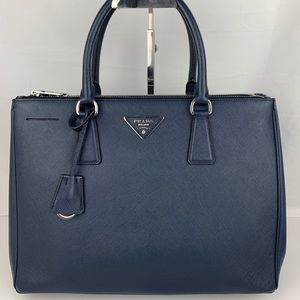 New Prada Italian Galleria Medium Double Zip Tote